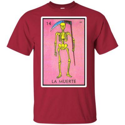 La Muerte Death Loteria Mexican Lottery Bingo Funny Design Premium T-Shirt