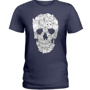 Sketchy Cat Skull Shirt