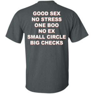 Good Sex No Stress One Boo No Ex Small Circle Big Checks Back Shirt