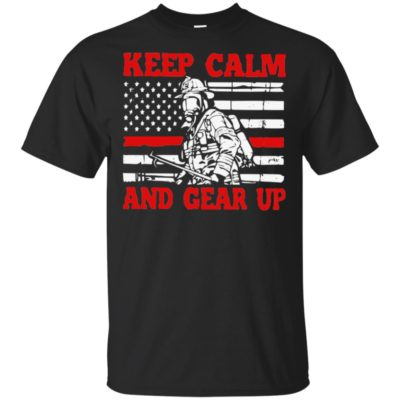Funny Keep calm and gear up American flag shirt, long sleeve hoodie