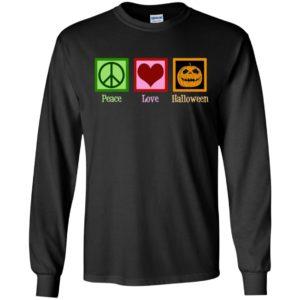 Peace Love Halloween Long Sleeve, T-Shirt, Hoodie