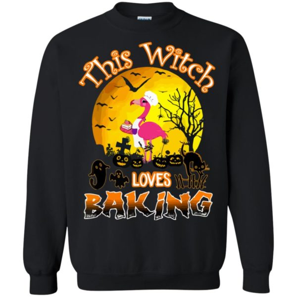 Funny This Witch Loves Baking Halloween Shirt Long Sleeve Sweatshirt Gift