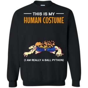 This Is My Human Costume I'm A Ball Python Snake Halloween Long Sleeve T-Shirt