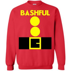 Bashful Beard Santa Dwarf Matching Group Halloween Costume Long Sleeve T-Shirt