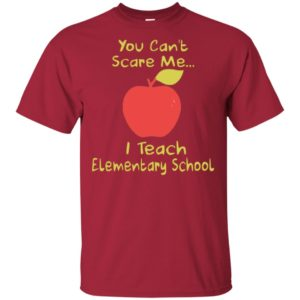 You Can't Scare Me I Teach Elementary School Apple Shirt Long Sleeve Hoodie