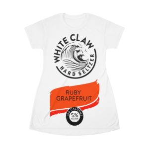 White claw Hard seltzer Ruby GrapeFruit Halloween Costume Dress