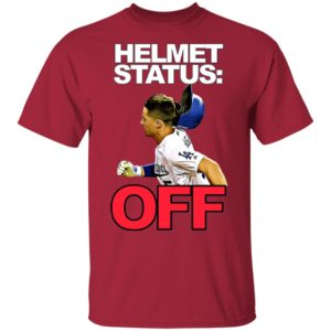 David Freese LA Dodgers Helmet Status Off Shirt