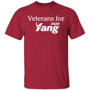 Veterans for yang 2020 shirt, ls, hoodie