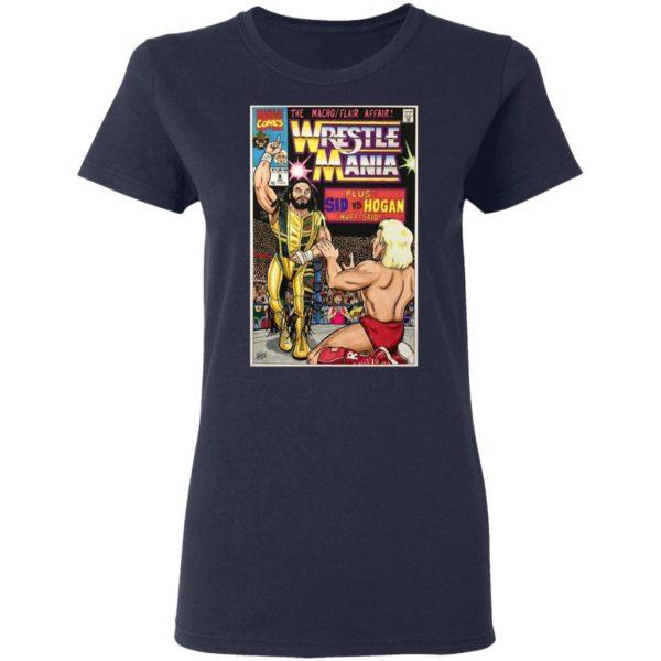 MachoMan vs RicFlair Wrestlemania 8 Marvel Comic Shirt, ls, hoodie