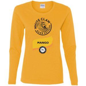 White claw Hard seltzer Mango Halloween Costume Shirt, Ladies Tee, Hoodie