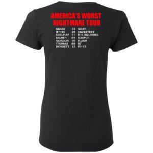 Bill's Plan America's Worst nightmare Tour Brady Goat White Sweetfeet Edelman The Squirrel Shirt