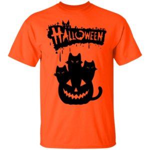 Halloween Pumpkin Cats shirt, long sleeve, hoodie
