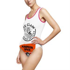White Claw Halloween Pumpkin Spice Swimsuit