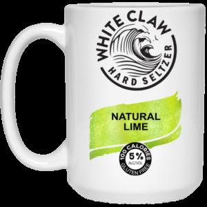 White Claw Hard Seltzer Natural Lime Mug, Travel Mug