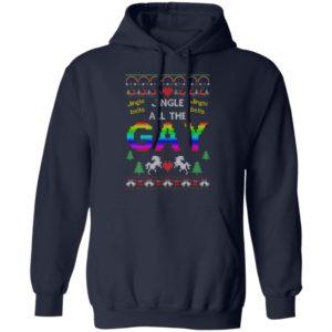 Jingle Bells Jingle All The Gay Funny Ugly Christmas Sweater, Shirt