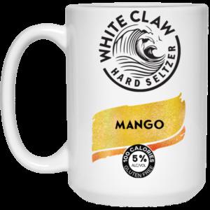White Claw Hard Seltzer Mango Mug, Travel Mug