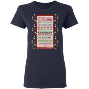Tennessee 12 Days of Christmas Wooden Wall Shirt