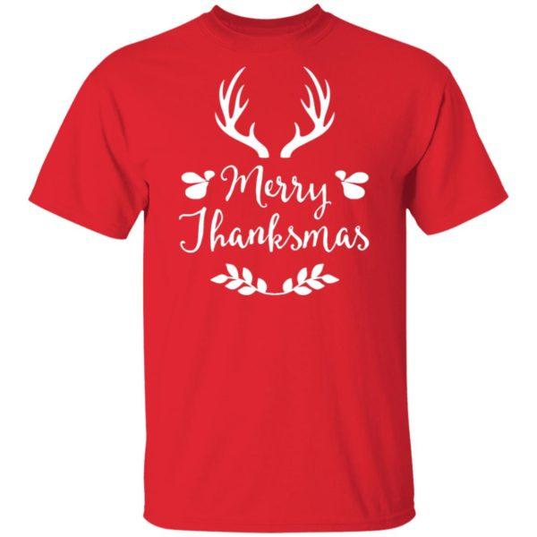 MERRY THANKSMAS FESTIVE THANKSGIVING CHRISTMAS SHIRT