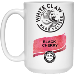 White Claw Hard Seltzer Black Cherry Mug, Travel Mug