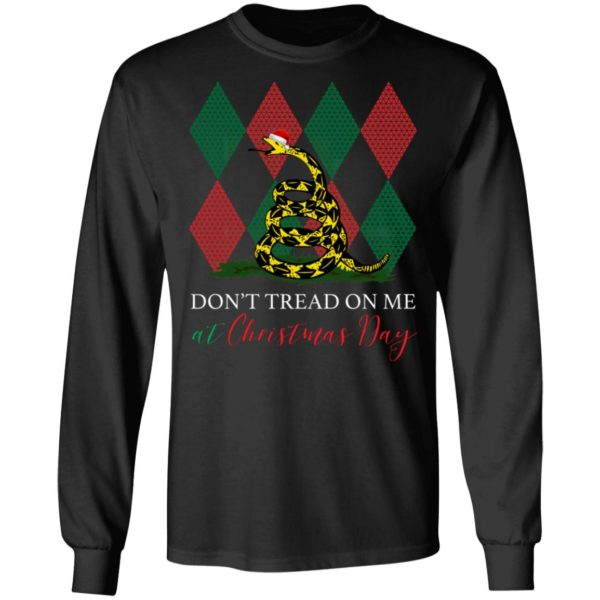 Gadsden Snek Snake Ugly Christmas Don't Tread On Me At Christmas Day Shirt