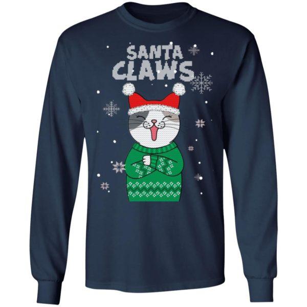 Santa Claws Cat Ugly Christmas Sweater Style Sweatshirt, Hoodie