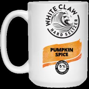 White Claw Hard Seltzer Pumpkin Spice Mug, Travel Mug