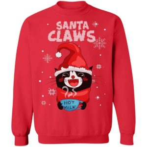 Santa Claws Black Cat Ugly Christmas Sweater
