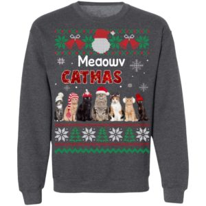 Cat Ugly Christmas Sweater Funny Xmas Sweatshirt