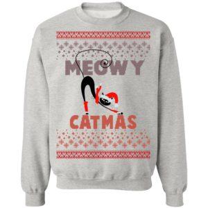 Ugly Christmas Sweater Sweatshirts Vintage Meowy Cat Sweater