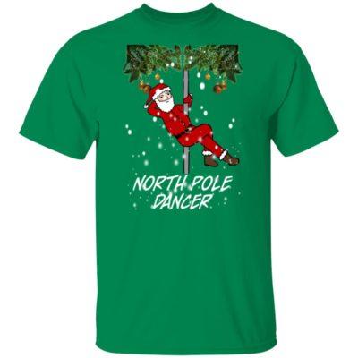 North Pole Dancer Funny Christmas Naughty Santa Claus Sweater, Hoodie