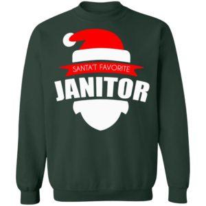 Santa's Favorite Janitor Funny Christmas Shirt Long Sleeve Premium Shirt, Ls, Hoodie