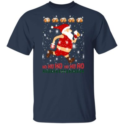 Santa Claus Drinks Beer On Christmas Day Sweater Shirt