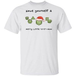 Dnd gamer Christmas Have yourself A Merry Little Crit mas Sweater Shirt