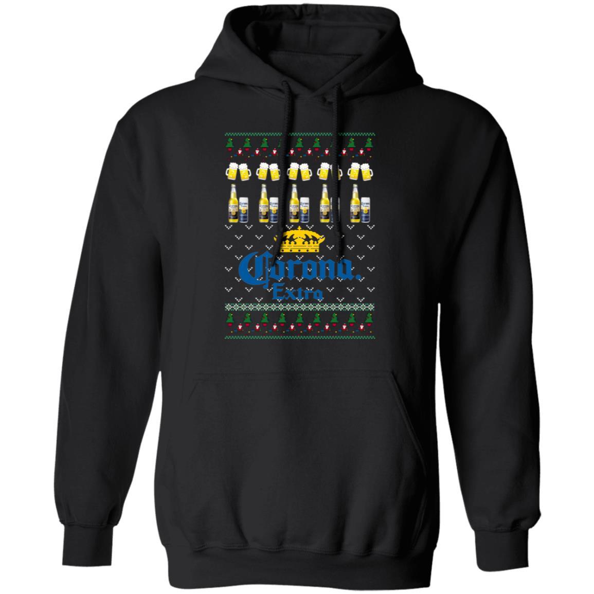 Beer Christmas Sweater.Corona Extra Beer Ugly Christmas Sweater Hoodie