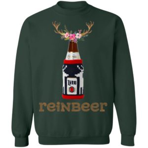 Bottle Miller Lite Reinbeer Funny Christmas Sweater Hoodie