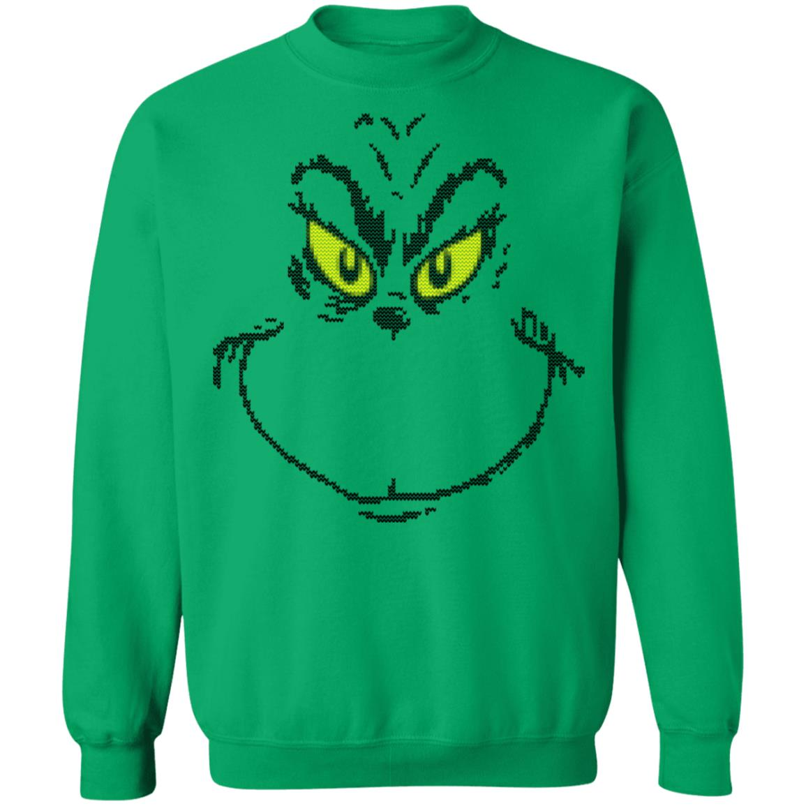 Joker Christmas Sweater.Dr Seuss Men S Grinch Face Ugly Christmas Sweater Hoodie