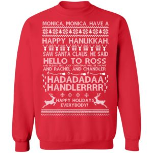 Monica Monica Have A Happy Hanukkah Harry Potter Ugly Christmas Sweater, Long Sleeve