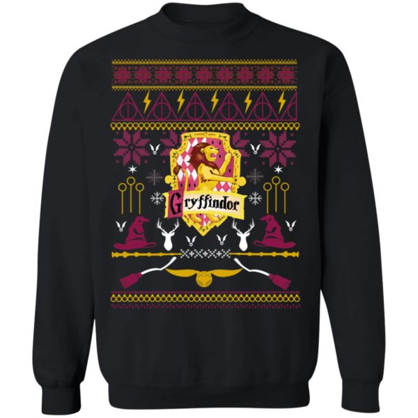 Harry Potter Gryffindor Ugly Christmas Sweater, Hoodie, Long Sleeve