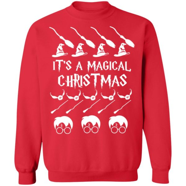 It's a Magical Christmas Sweater Harry Potter Movie Hoodie, Long Sleeve