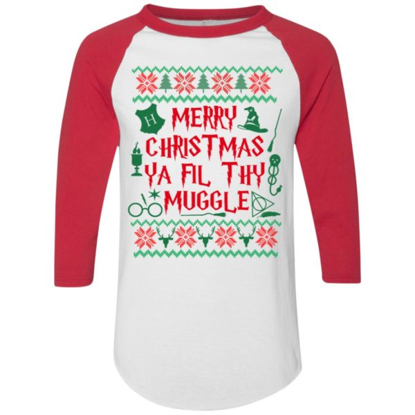 Merry Christmas Ya Filthy Muggle Harry Potter Movie Ugly Christmas Sweater Hoodie, Long Sleeve