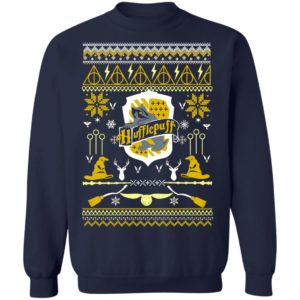 Harry Potter Hufflepuff Ugly Christmas Sweater Hoodie