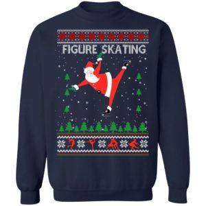 Figure Skating Ugly Christmas Sweater, Hoodie, Long Sleeve