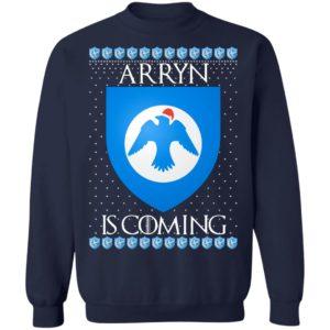 House Arryn Game of thrones Christmas Santa Is Coming Sweatshirt