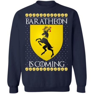 House Baratheon Game of thrones Christmas Santa Is Coming Sweatshirt
