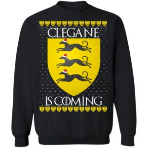House Clegane Game of thrones Christmas Santa Is Coming Sweatshirt