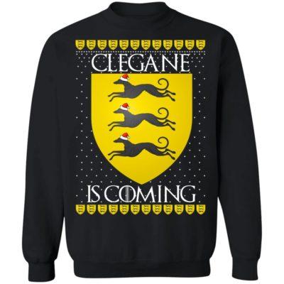 House Clegane Game of thrones Christmas Santa Is Coming Sweatshirt