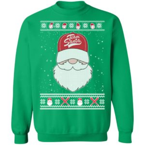 Baseball Team Santa Ugly Christmas Sweater, Hoodie, Long Sleeve