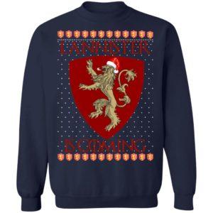 House Lannister Game of thrones Christmas Santa Is Coming Sweatshirt, Hoodie