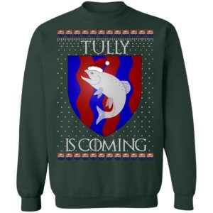House Tully Game of thrones Christmas Santa Is Coming Sweatshirt, Hoodie