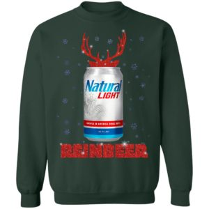 Natural Light Reinbeer Christmas Sweatshirt, Hoodie